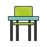 School chair and desk isolated icon Stock Photo
