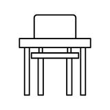 School chair and desk isolated icon Royalty Free Stock Photos