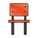 School chair isolated icon Stock Photos
