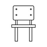School chair isolated icon Royalty Free Stock Images