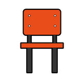 School chair isolated icon Royalty Free Stock Photos