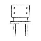 School chair isolated icon Royalty Free Stock Image