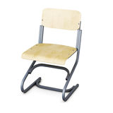 School chair isolated on white background. 3d render image Stock Photography