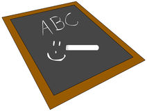 School Chalk Board. An old-fashion school chalk board. Used for individual children in school Royalty Free Illustration