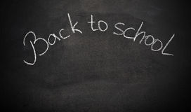 School chalk board with words back to school. School chalk board with the words back to school Royalty Free Stock Images