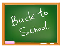 School chalkboard. Back to school text on a chalkboard Royalty Free Stock Image