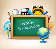 School chalkboard frame Stock Images
