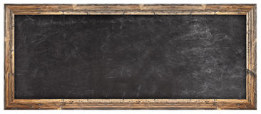 School chalkboard. On white background stock photography