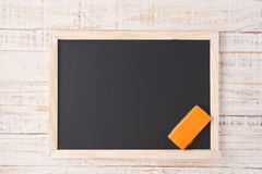 School Chalkboard on white wood wall for background Royalty Free Stock Photography