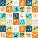 School checked pattern Royalty Free Stock Image