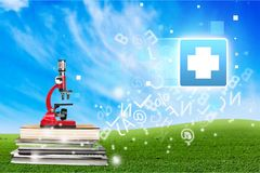 School. Chemistry experiment microscopy medical tool concept Stock Photography