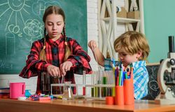 School chemistry laboratory. Laboratory Research - Scientific project For Chemical test. back to school. Science and stock image