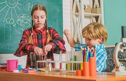 School chemistry laboratory. Laboratory Research - Scientific project For Chemical test. back to school. Science and royalty free stock photography