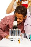 School chemistry research Stock Photography