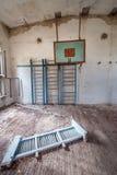 School in Chernobyl Zone Stock Photos