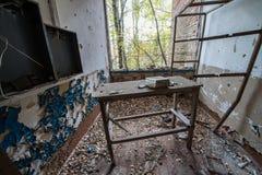 School in Chernobyl Zone Stock Image