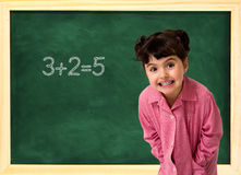 School child and board Royalty Free Stock Photos