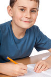 School child doing homework Royalty Free Stock Photography
