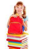 School child holding book. Stock Photography