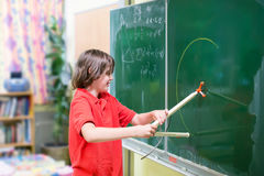 School child at math class Royalty Free Stock Photo