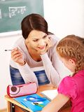 School child with teacher. Stock Photo