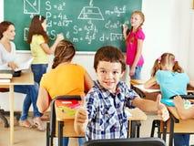 School child with teacher. Stock Photo