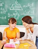 School child with teacher. Stock Images