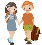 School childhood. Boy and girl 2. similar to the portfolio Stock Photography