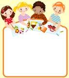 School childhood. drawing Royalty Free Stock Image