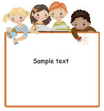 School childhood. text. School childhood. Place for your text Royalty Free Stock Photography