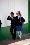 School children in Bogota Colombia Stock Photography