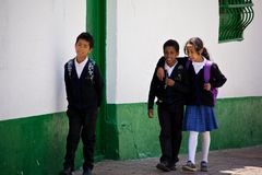 School children in Bogota Colombia Stock Images