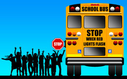 School children bus Royalty Free Stock Photography