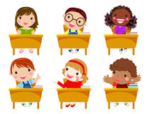 School children in classroom at lesson Royalty Free Stock Image
