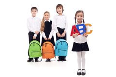 School children - elementary school Royalty Free Stock Image
