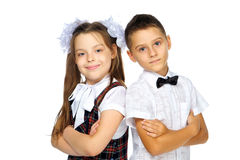 School children elementary school boy and girl Royalty Free Stock Photos