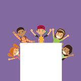 School Children Group With Empty Copy Space Royalty Free Stock Photography