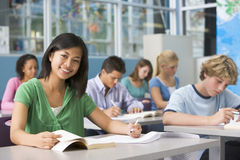 School children in high school class Stock Image