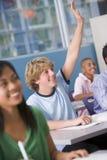 School children in high school class Stock Image
