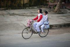 School children Hoi An, Vietnam stock images