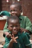 School children in Jamestown, Accra, Ghana Royalty Free Stock Images