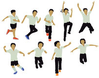 School Children Jumping and Playing Royalty Free Stock Photos