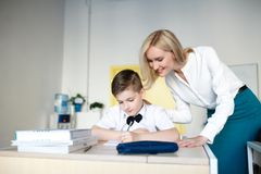 School. children learn in school. training students Stock Image