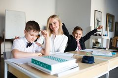 School. children learn in school. training students Stock Photography