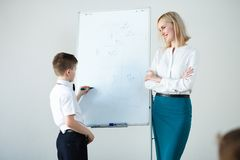 School. children learn in school. training students Stock Photos