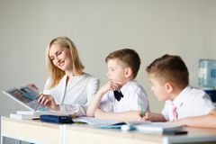 School. children learn in school. training students Stock Images
