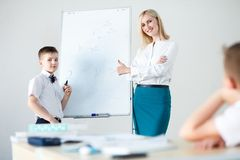 School. children learn in school. training students Royalty Free Stock Photography