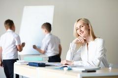 School. children learn in school. training students Stock Photo