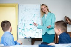 School. children learn in school. training students Royalty Free Stock Photos