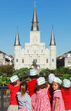 School Children from New Orleans Royalty Free Stock Photo